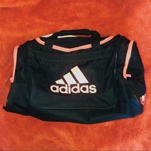 Adidas black and pink duffle